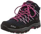 CMP Unisex-Kinder Kids Rigel Mid Shoe Wp Trekking- & Wanderstiefel, Blau (B.Blue-Rose 80bn), 31 EU