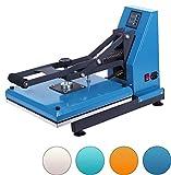 RICOO T338-AZ Transferpresse Textilpresse Textildruckpresse Klappbar Thermopresse Transferdruck Bügelpresse Textil T-Shirtpresse Sublimationspresse für Flexfolie und Flockfolie/Azur-Blau