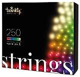 Twinkly - TWS250STP 250 RGB-Multicolor-LED Lichterkette - App-gesteuerte LED Weihnachtsbeleuchtung mit schwarzem Kabel (20m) - Unterstützt IoT & Razer Chroma - Dekorationen für Innen- und Außenbereich