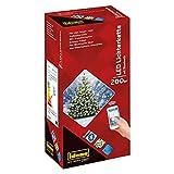 Idena 31099 - LED Lichterkette mit 200 LED in warmweiß, per Smartphone steuerbar, mit Transformator, für den Innen- und Außenbereich, für Partys, Garten, Weihnachten, als Stimmungslicht