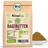 Bio Hagebuttenpulver (1kg) | ganze Hagebutte gemahlen | 100% ECHTES Bio Hagebutten Pulver in Rohkostqualität