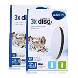 BRITA MicroDisc Wasserfilter 3stk. - Passend für BRITA fill&go Wasserfilter-Flaschen und BRITA fill&serve Wasserfilter-Karaffen (2er Pack)