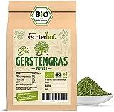 Gerstengras Pulver BIO (500g)   Aus deutschem Anbau   Rohkostqualität   100% Gerstengraspulver   Rückstandskontrolliert   vom-Achterhof
