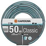 Gardena Classic Schlauch 13 mm (1/2 Zoll), 50 m: Universeller Gartenschlauch aus robustem Kreuzgewebe, 22 bar Berstdruck, druck- und UV-beständig (18010-20)