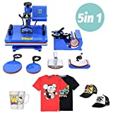 Samger Samger Digitale Hitzepressemaschine Wegschwingen Transfer Drucker Sublimation f¨¹r T-Shirt Becher Teller Hut 12'X 15' (5 IN 1)