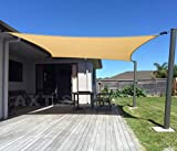 AXT SHADE Sonnensegel Rechteck 2x3m,atmungsaktiv Sonnenschutz HDPE mit UV Schutz für Terrasse, Balkon und Garten- Sandbeige