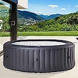 BRAST Whirlpool aufblasbar MSpa URBAN RIMBA für 6 Personen Ø204x70cm In-Outdoor Pool 138 Massagedrüsen Aufblasfunktion per Tastendruck
