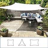 Clara Sonnensegel, hochwertig, 95% UV-Schutz, wasserfest, Reinweiß, Baldachin, Sonnensegel, für Terrasse/Außenbereich/Innenbereich (Rectangle 4m x 5m, Weiß)